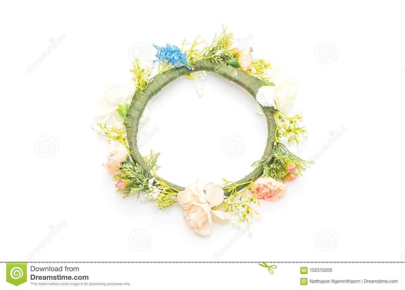 Beautiful Flower Crown Stock Image Image Of Natural 102370209