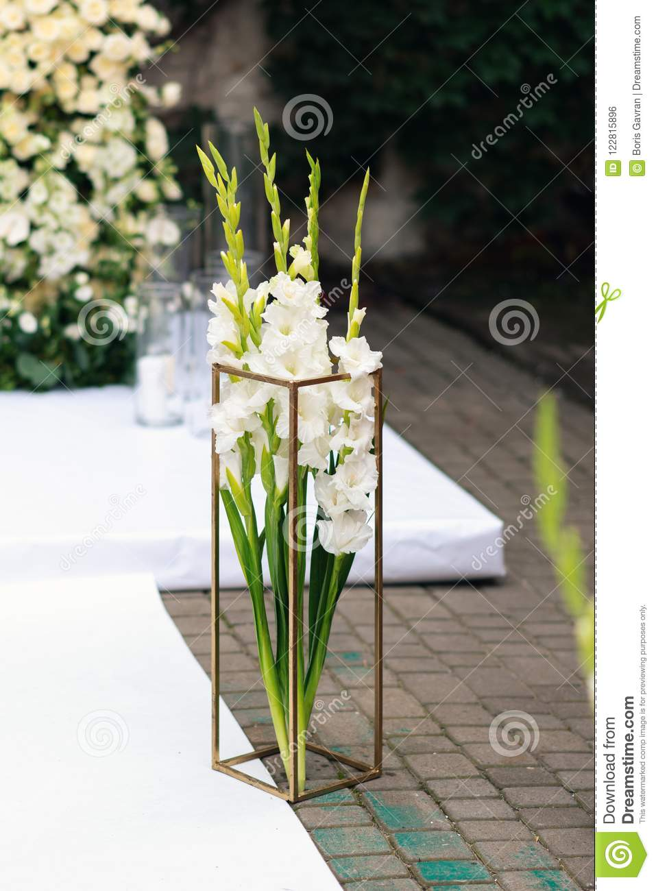 Excellent Beautiful Flower Decorations For The Wedding Ceremony Stock Interior Design Ideas Tzicisoteloinfo