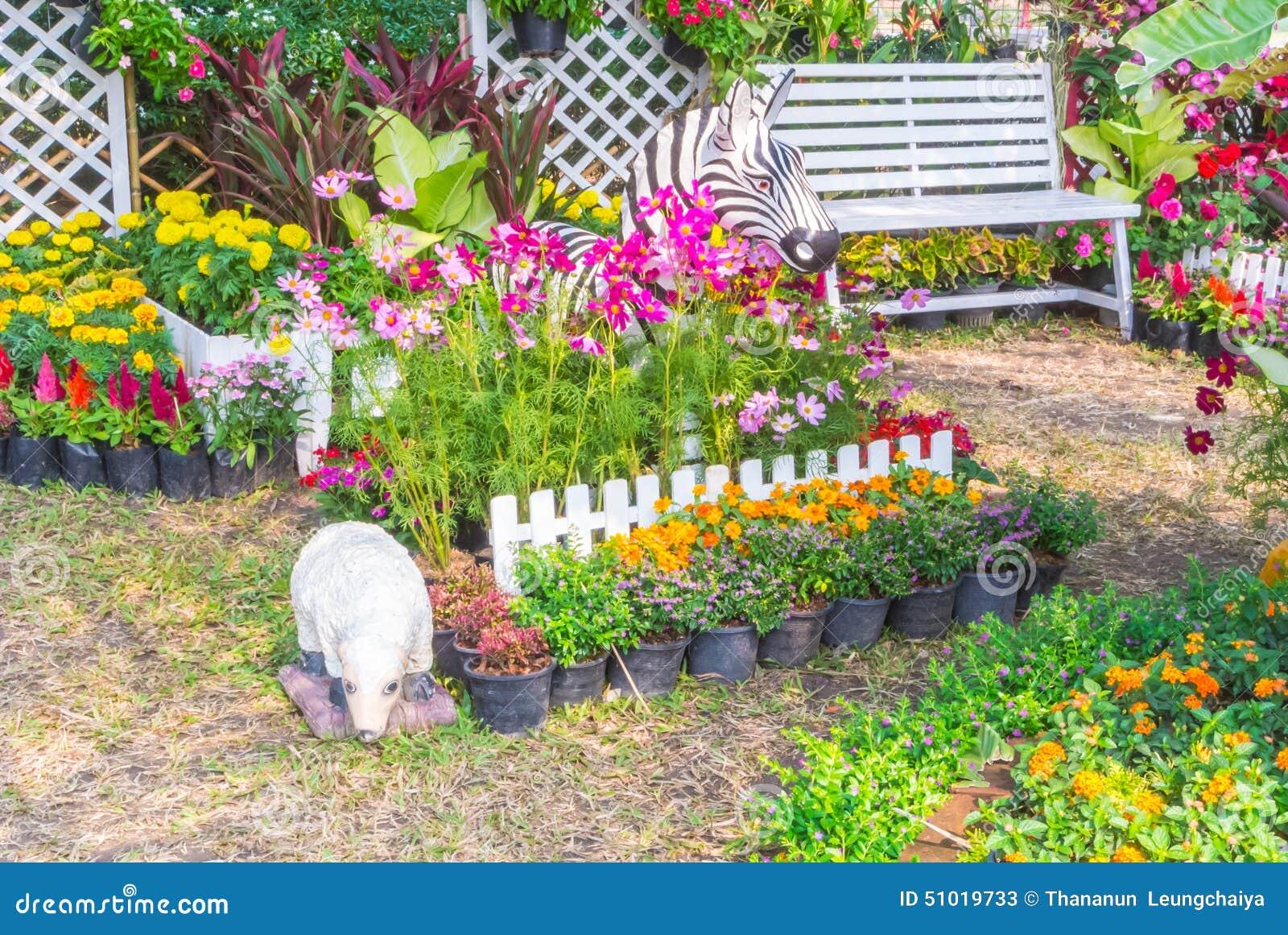 beautiful flower garden. stock image. image of ecology - 51019733