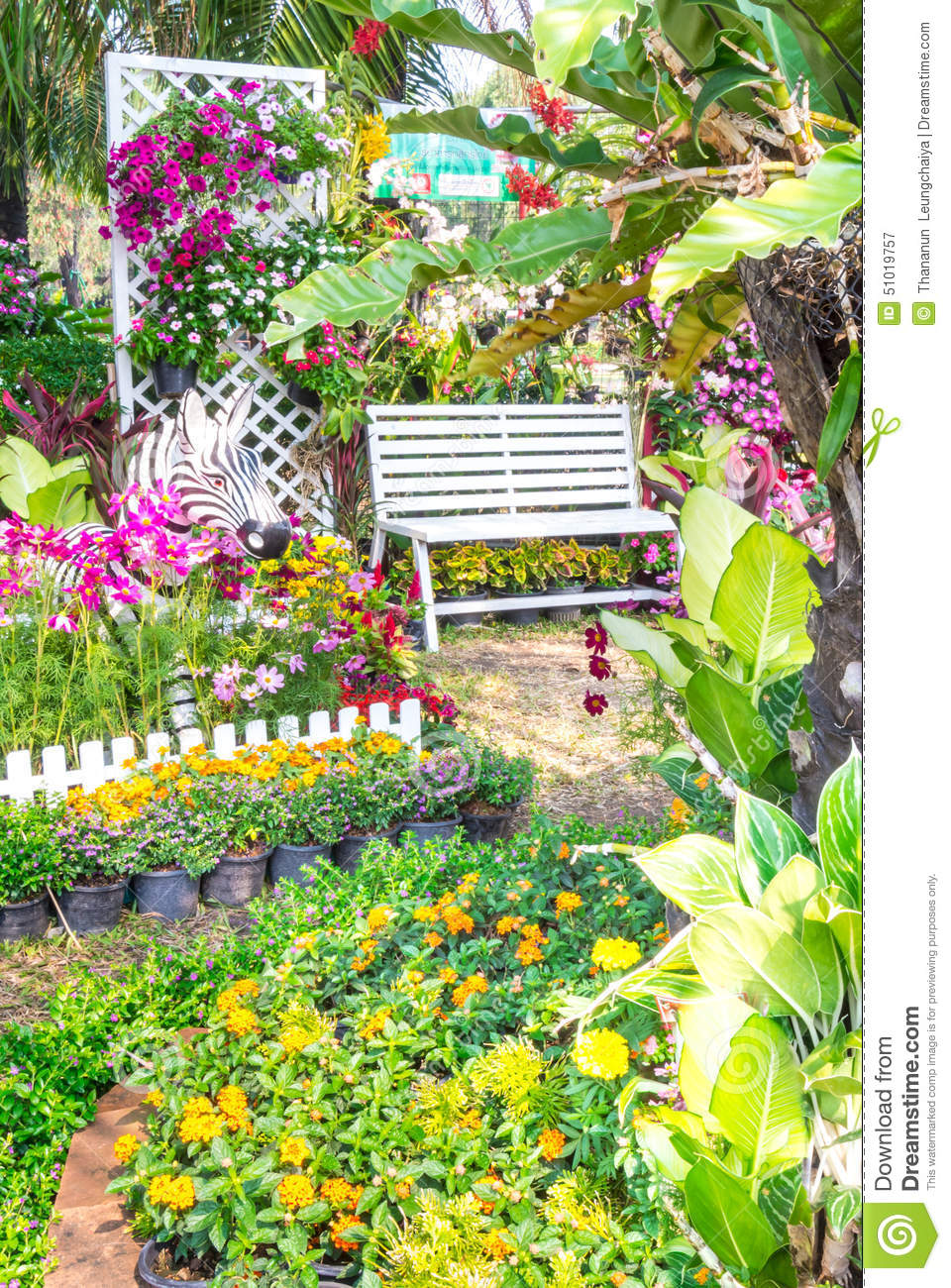 Beautiful Flower Garden Stock Image Image Of Beauty