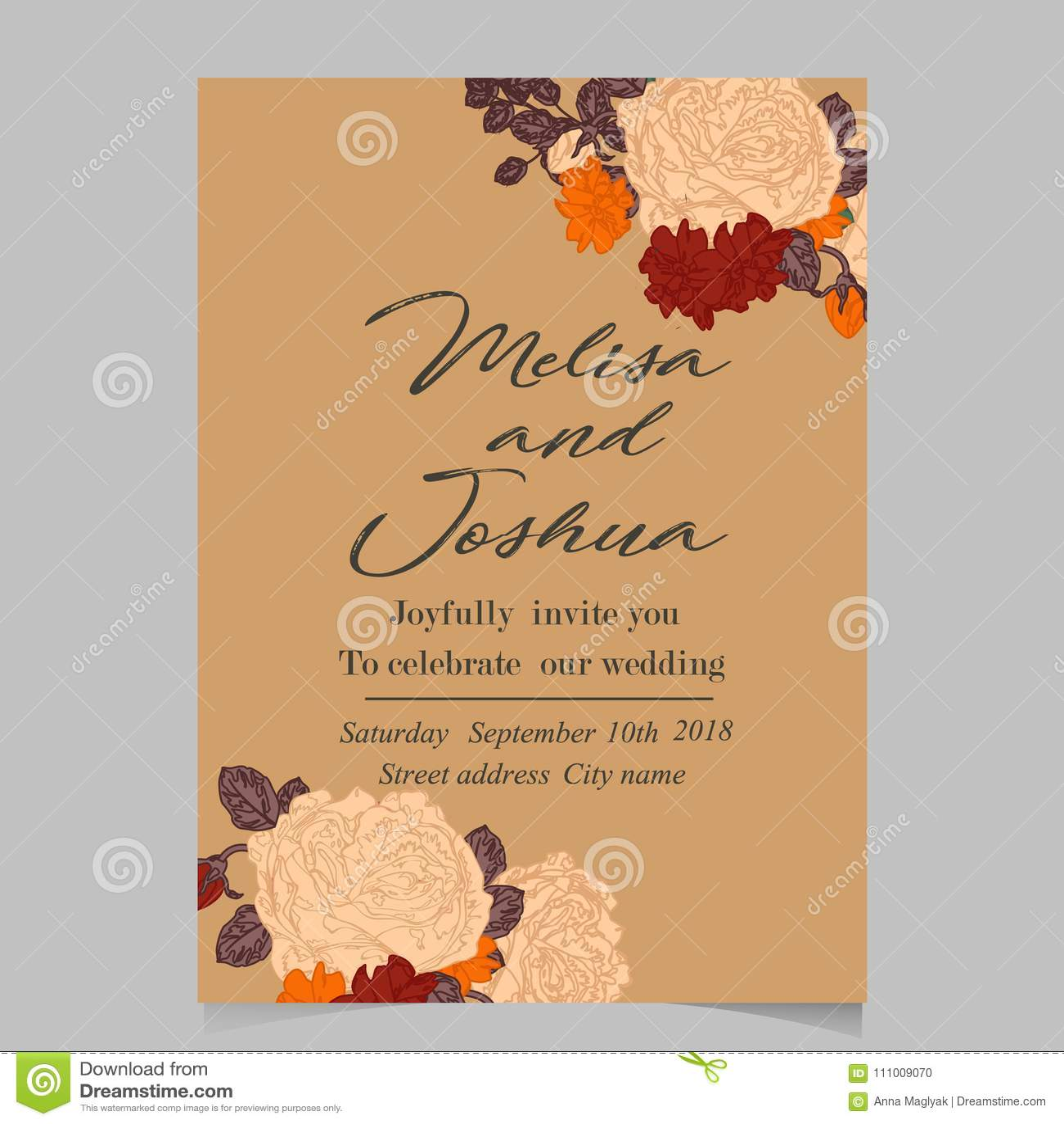 Beautiful Flower Of Hydrangea Wedding Card Stock