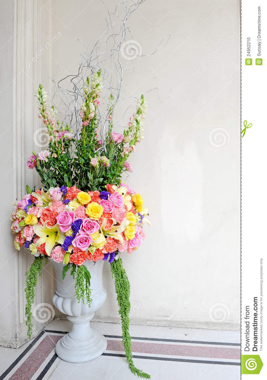 Beautiful flower pot for decor stock photo image 24952210 - Plant decorating ideas tasteful nature ...