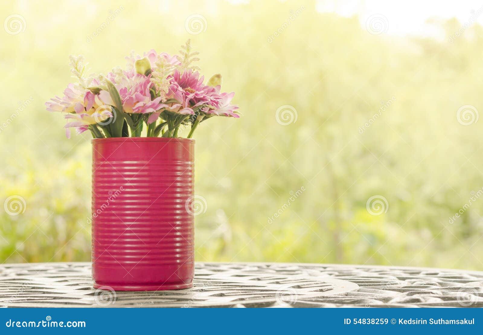 Beautiful flower in vase on table in vintage style stock image beautiful flower in vase on table in vintage style reviewsmspy