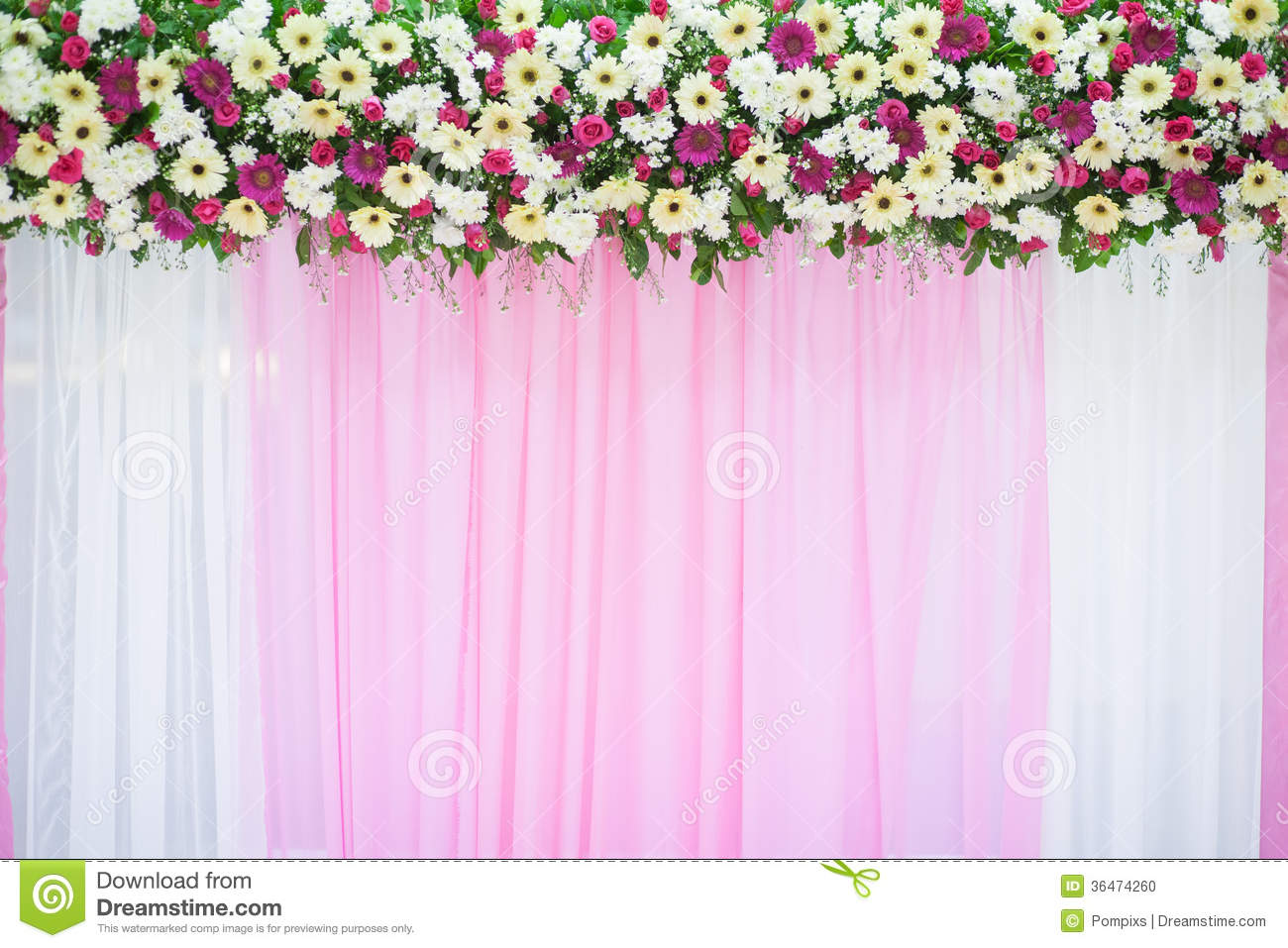 Beautiful flower wedding decoration stock photo image for Back ground decoration