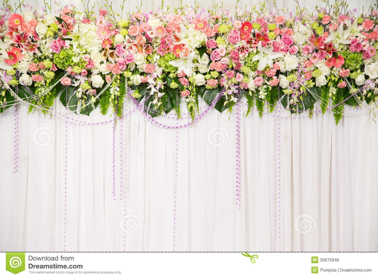 Beautiful Flower Wedding Decoration Stock Photo Image Of Ceremony Color 35675946