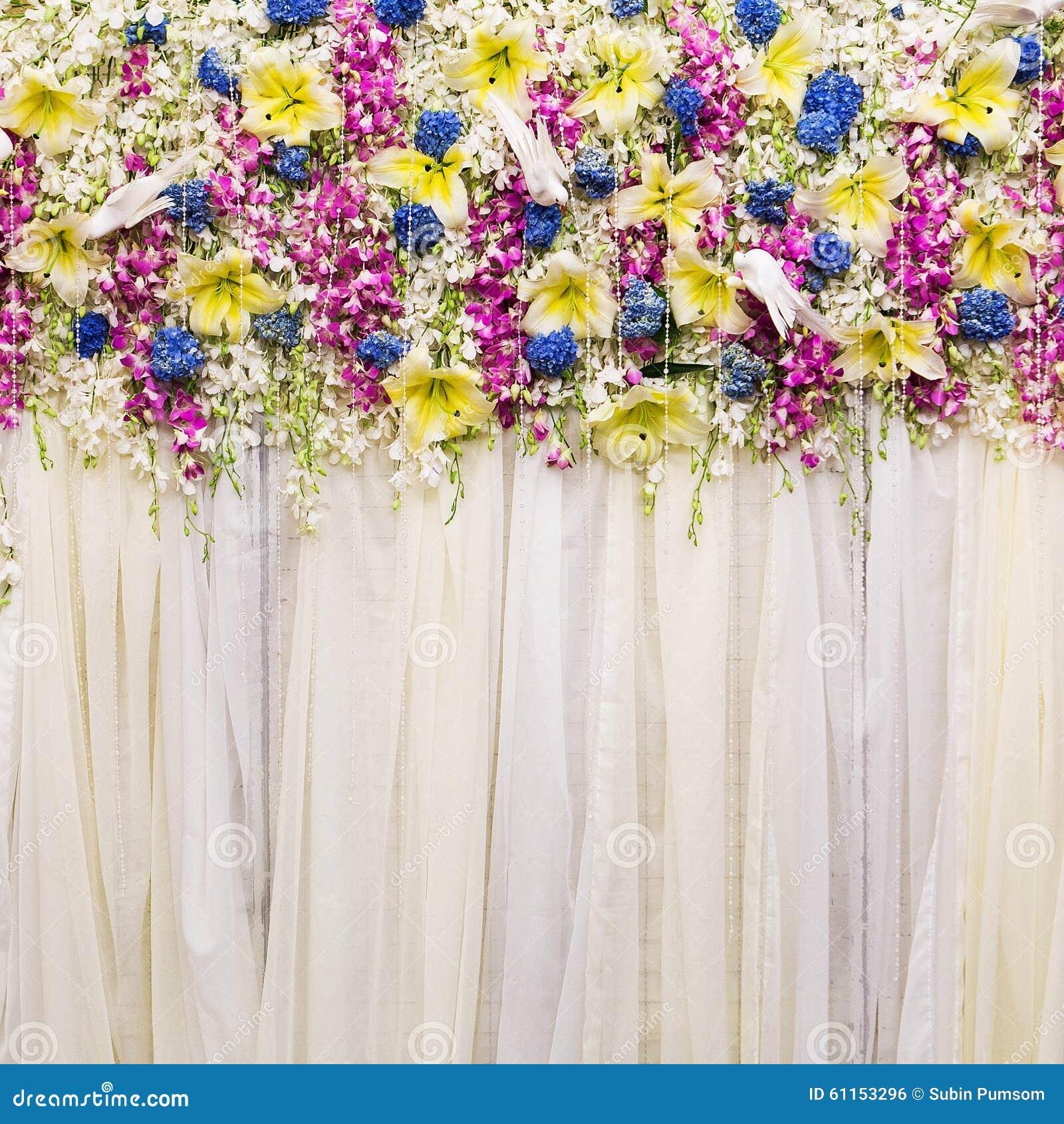 Wedding Flower Background: Beautiful Flowers Background For Wedding Stock Photo