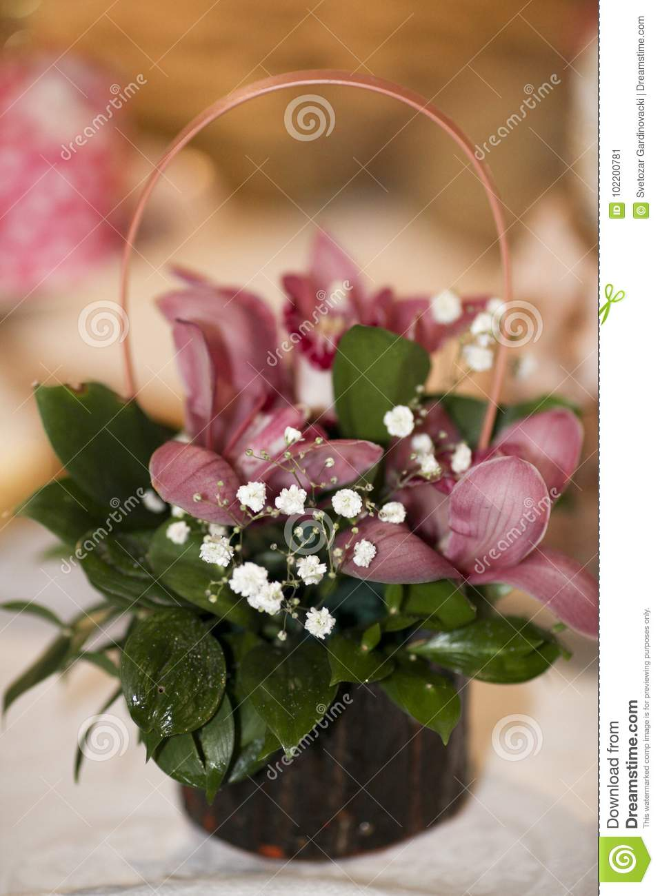 Beautiful Flowers Bouquet Stock Image Image Of Beautiful 102200781