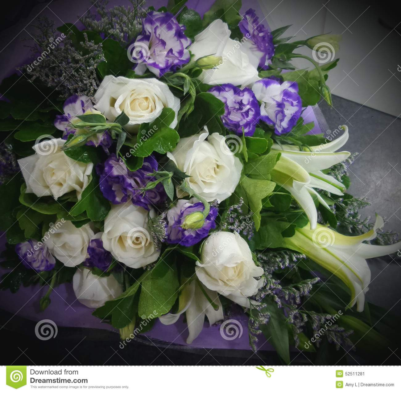 Beautiful flowers bouquet rose stock image image of bouquet download beautiful flowers bouquet rose stock image image of bouquet purple 52511281 izmirmasajfo