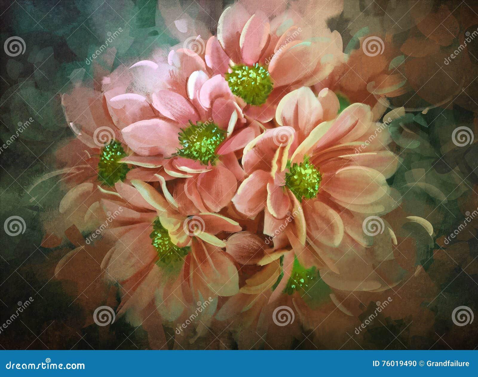 Beautiful Flowerscolor Bloomingillustration Stock Illustration