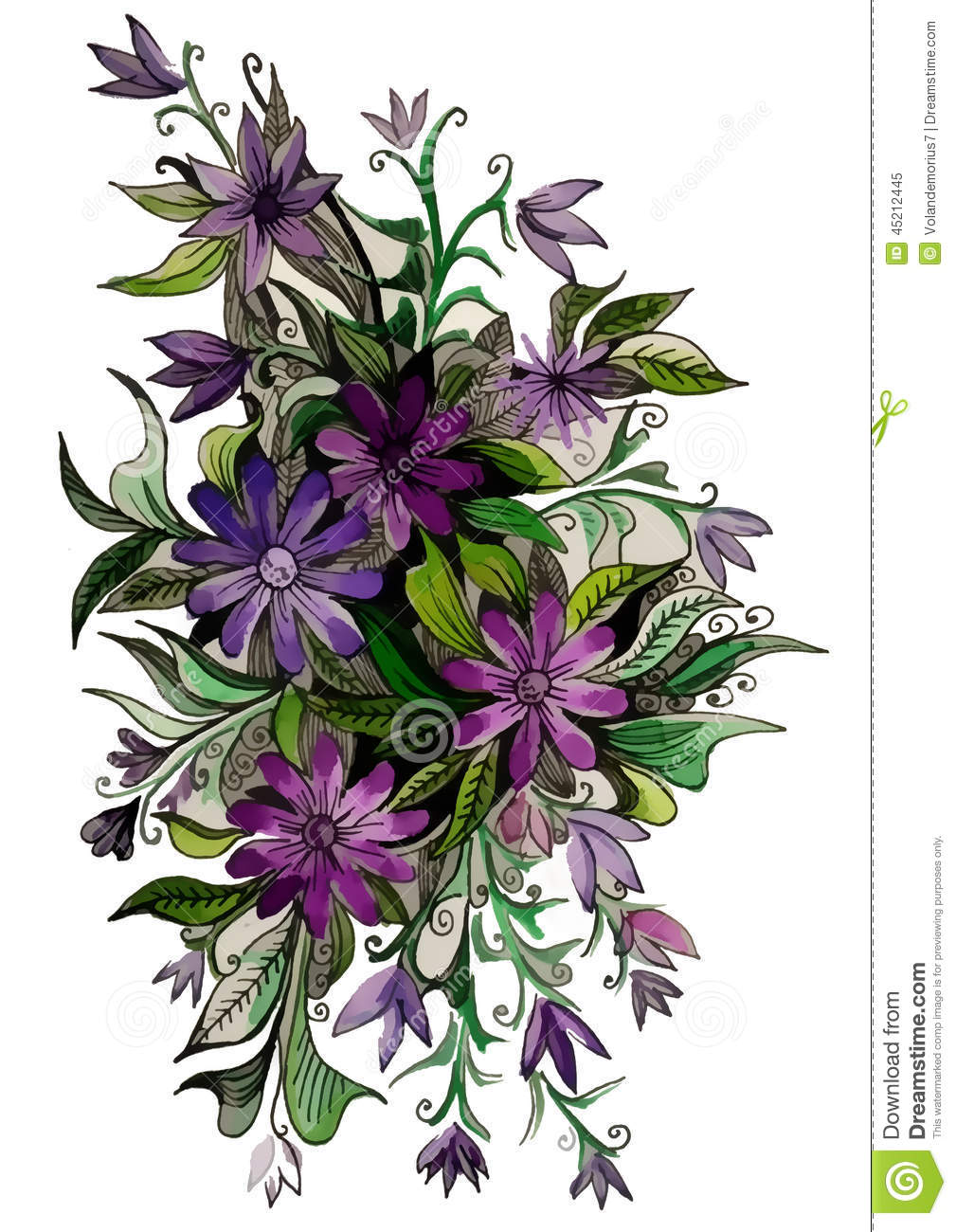 Beautiful flowers of different colors stock illustration for What makes flowers different colors