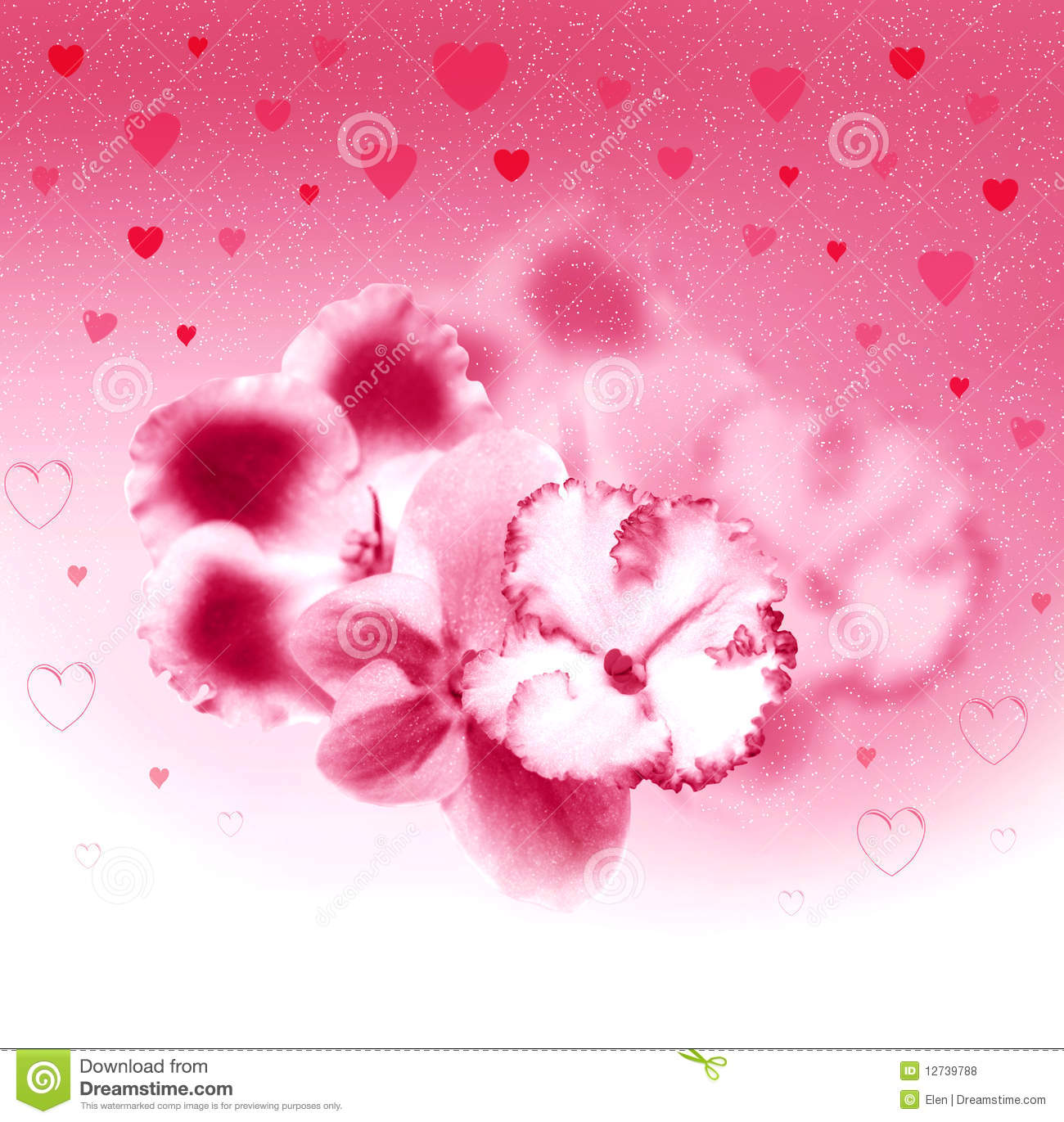 Beautiful flowers and hearts stock illustration illustration of beautiful flowers and hearts izmirmasajfo Choice Image