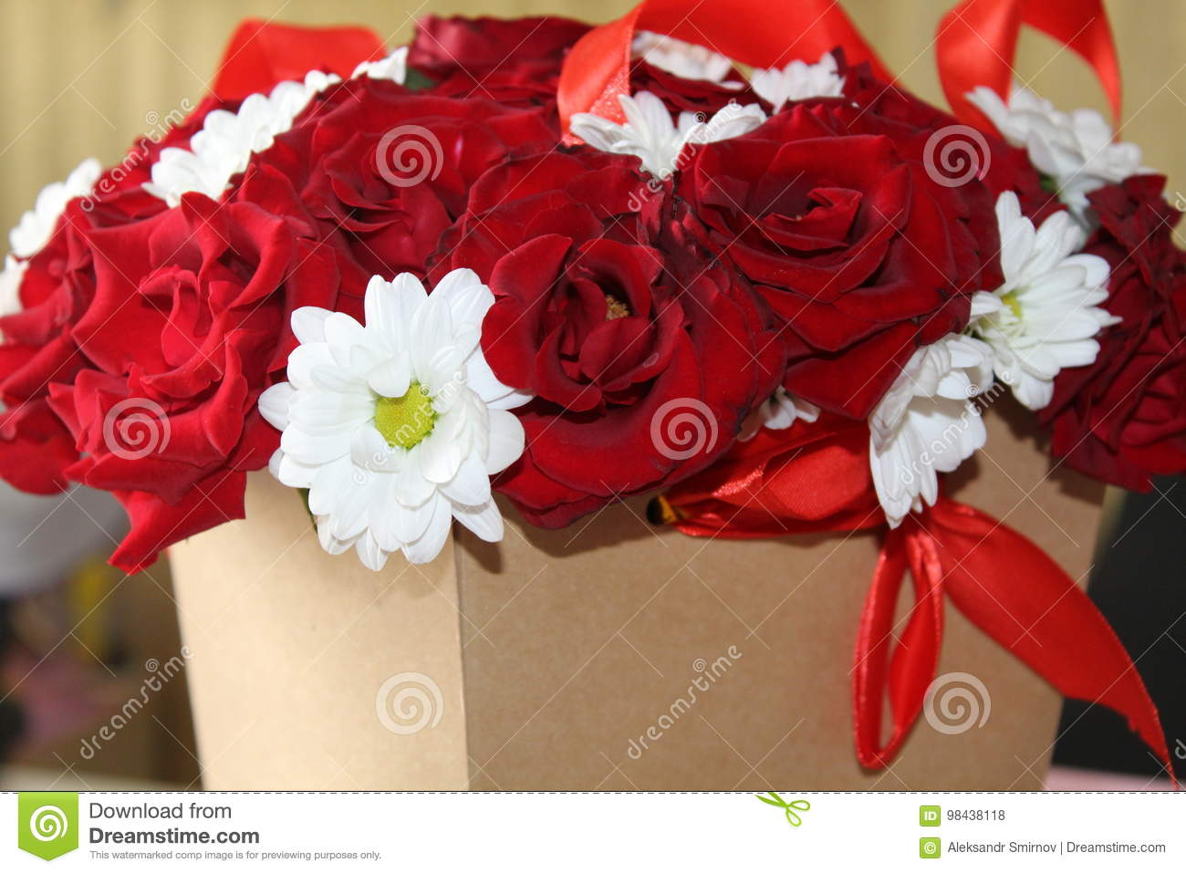 Beautiful flowers of a rose in a box stock photo image of luxury beautiful flowers of a rose in a box izmirmasajfo