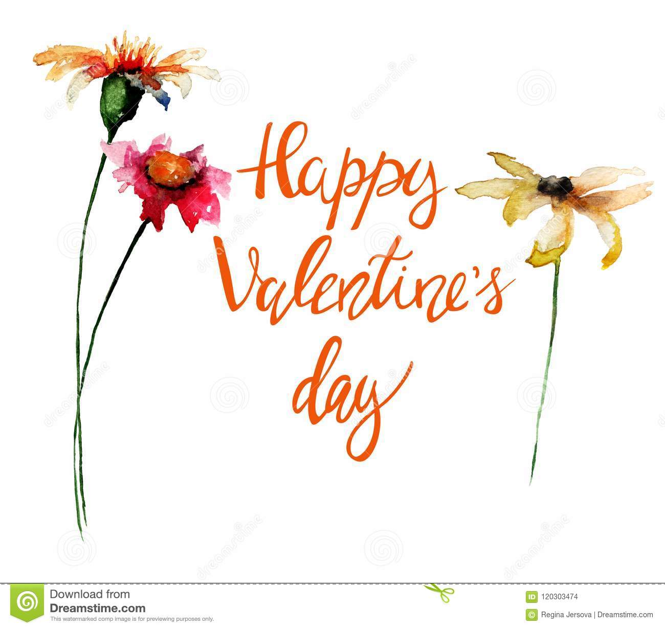 Beautiful flowers with title happy valentines day stock illustration beautiful flowers with title happy valentines day izmirmasajfo