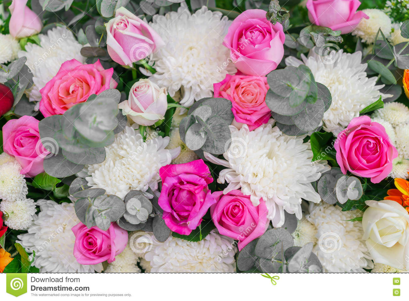 Beautiful Flowers For Valentines And Wedding Scene Stock Image