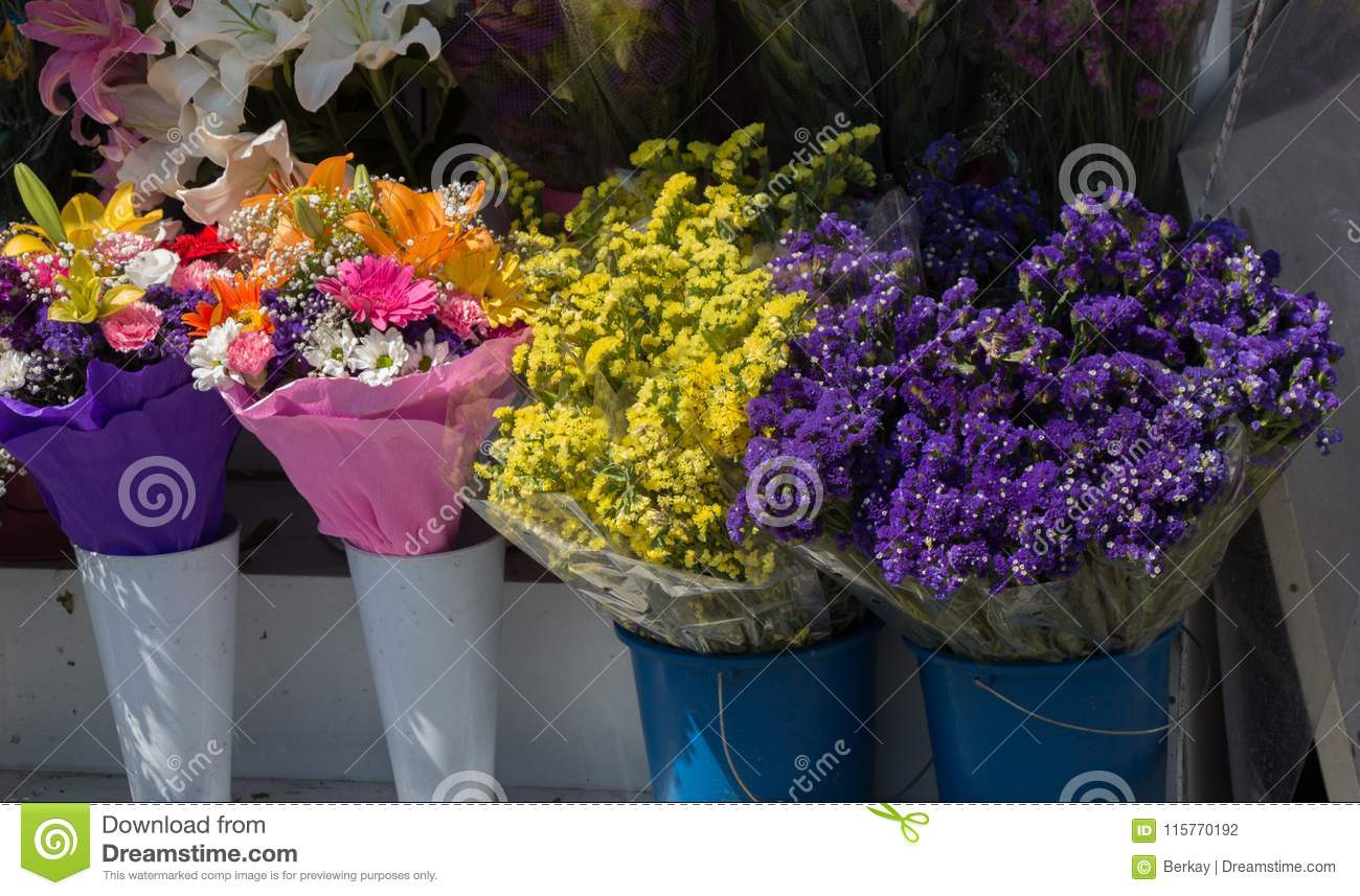 Beautiful Flowers Of Various Types Stock Photo Image Of Field