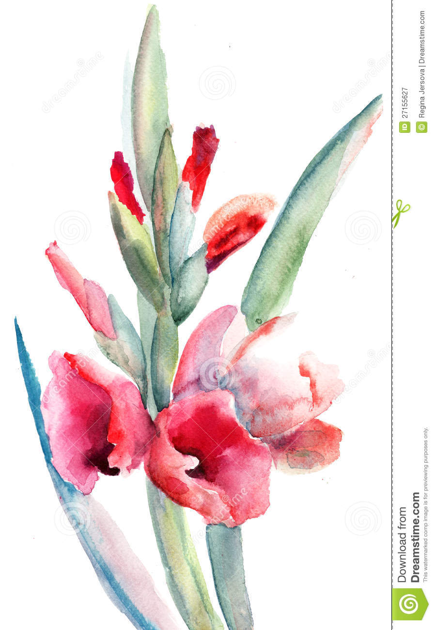 Beautiful flowers watercolor painting stock illustration beautiful flowers watercolor painting izmirmasajfo Image collections