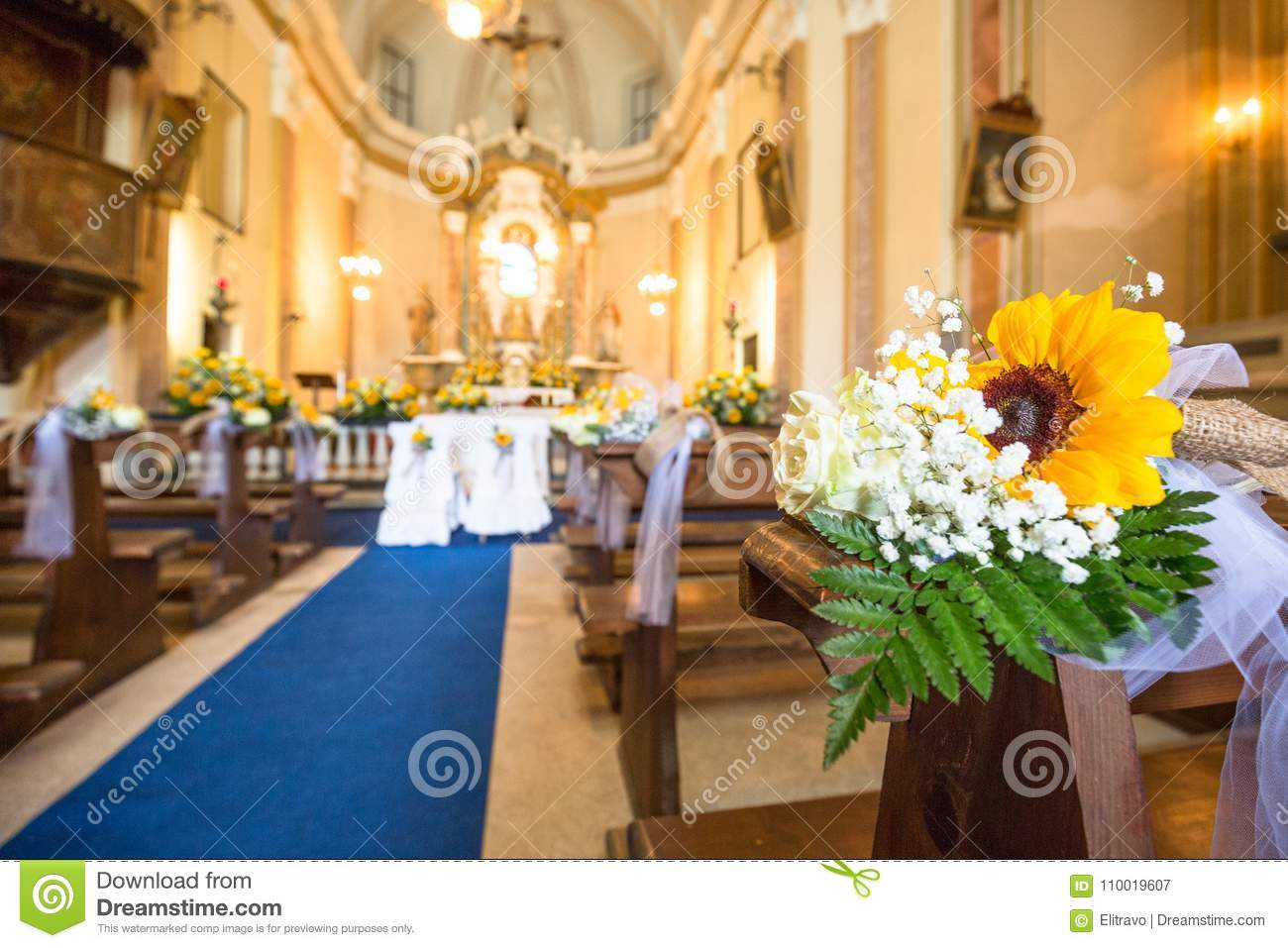 Wedding ceremony in the church stock image image of celebrating beautiful flowers wedding decoration in a church for the marriage junglespirit Choice Image
