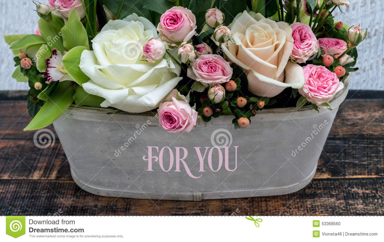 Beautiful Flowers For You My Love Stock Image