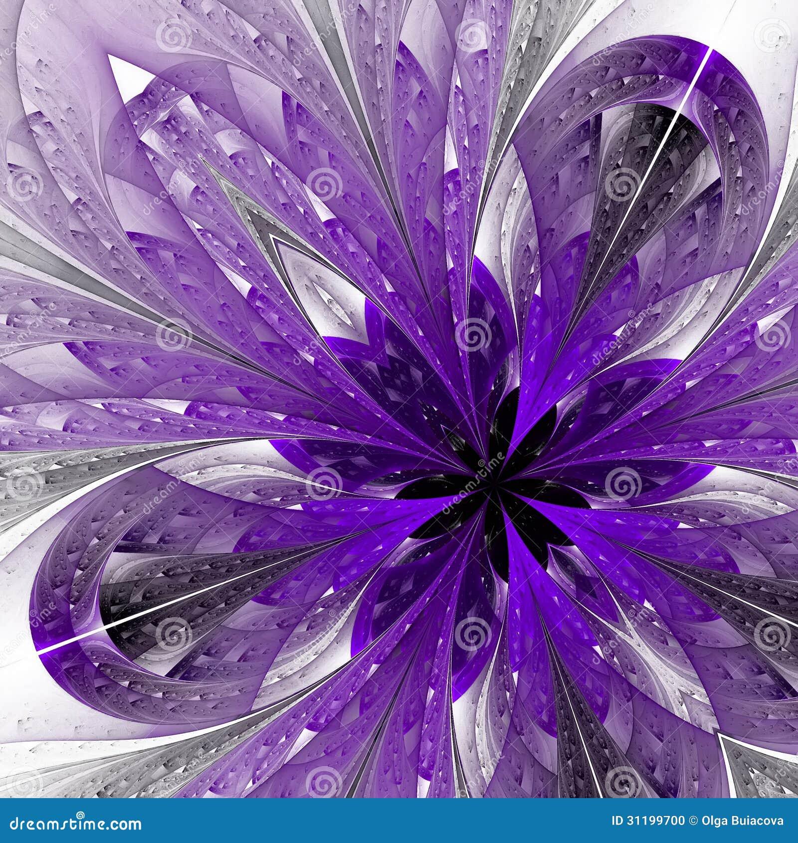 beautiful fractal in purple stock illustration image