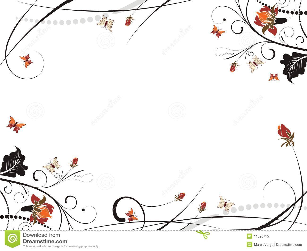 Beautiful frame of floral stock vector. Illustration of abstract ...
