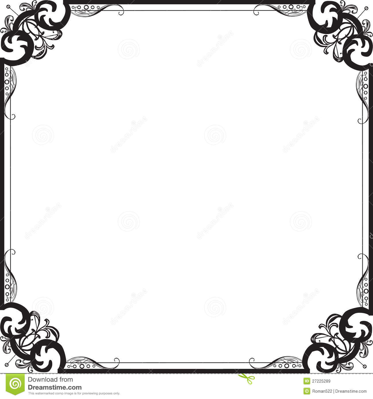 Beautiful Frame With A Pattern Stock Vector - Illustration of style ...