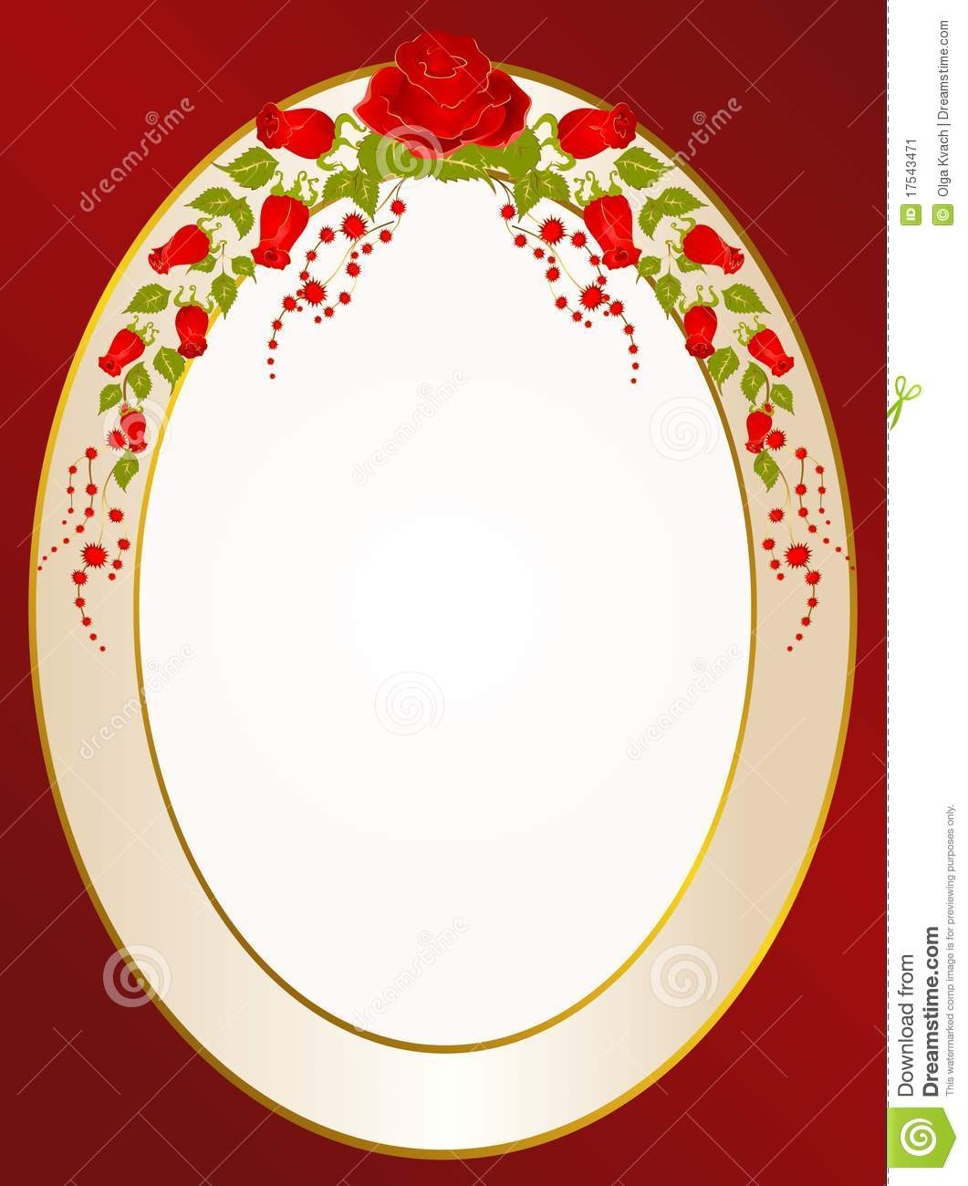 Beauty In Frame: Beautiful Frame From Roses Stock Image
