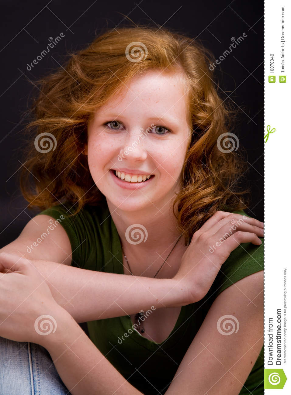Beautiful Freckled Teen Girl Stock Photo - Image 10078040-5222
