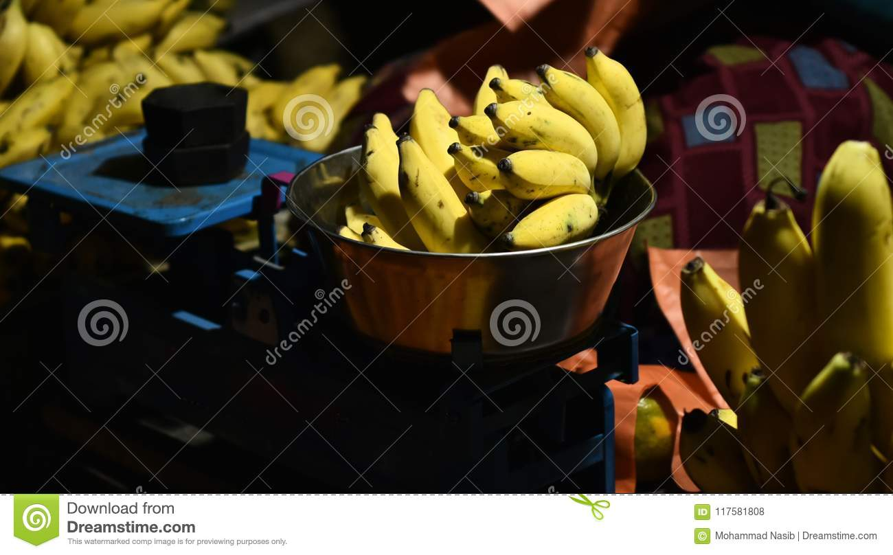 Download Fresh Bananas In A Street Fruits Store Unique Photo Stock Photo - Image of idea, fresh: 117581808