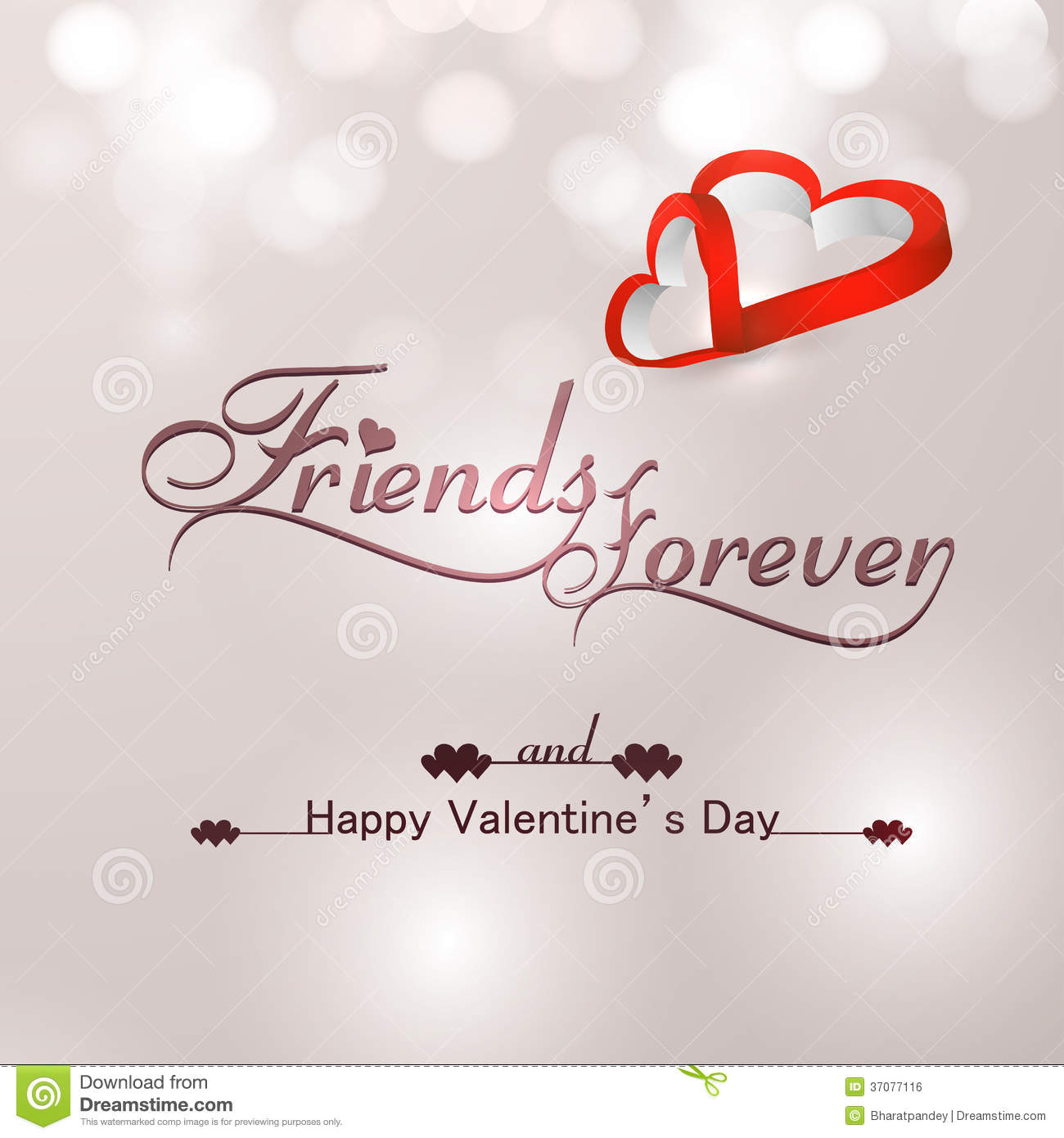 Beautiful Friends Forever For Happy Valentine S Day Heart