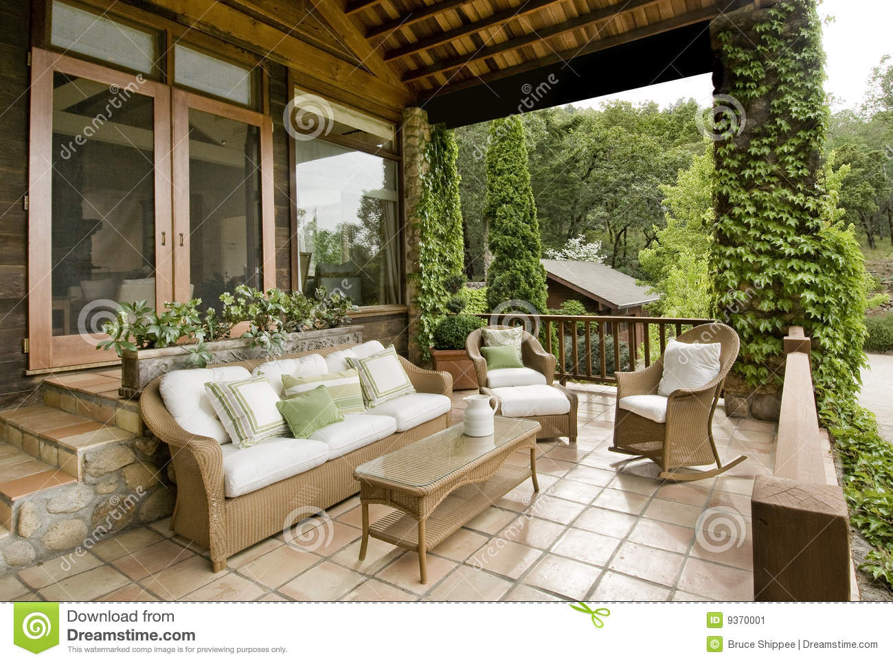 Beautiful Front Porch Stock Image