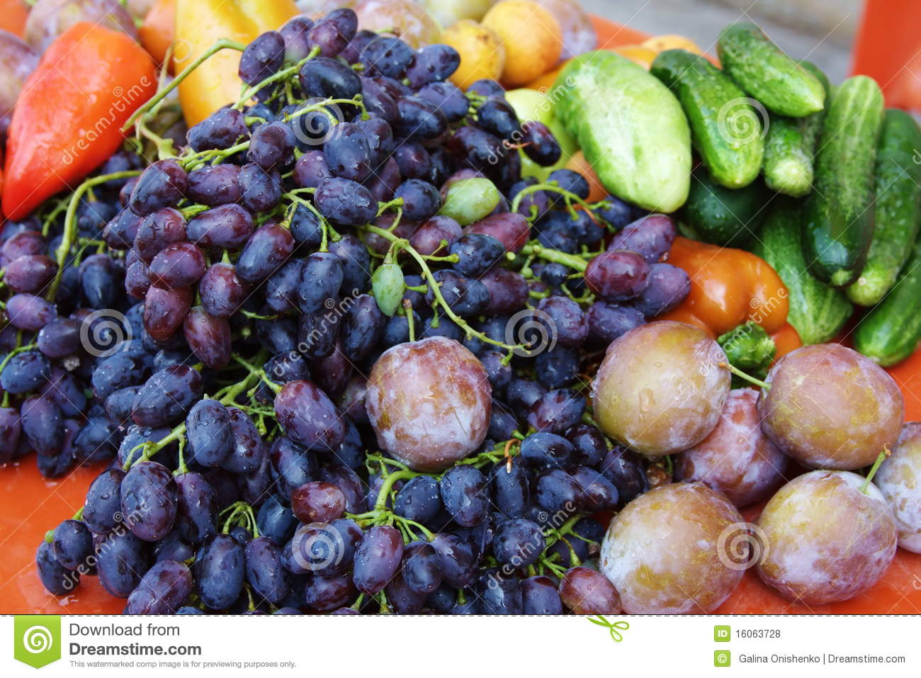 Beautiful fruit and vegetables royalty free stock photos for Beautiful vegetables