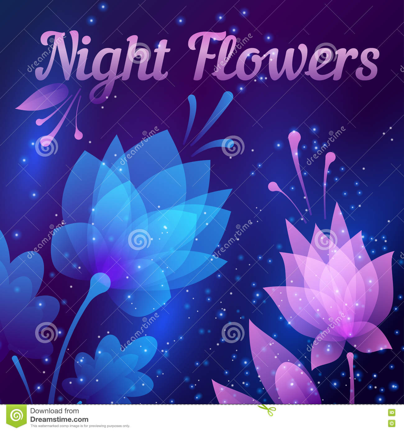 Beautiful futuristic night flowers abstract card vector stock beautiful futuristic night flowers abstract card vector stock illustration illustration of gradient leaf 72259864 izmirmasajfo