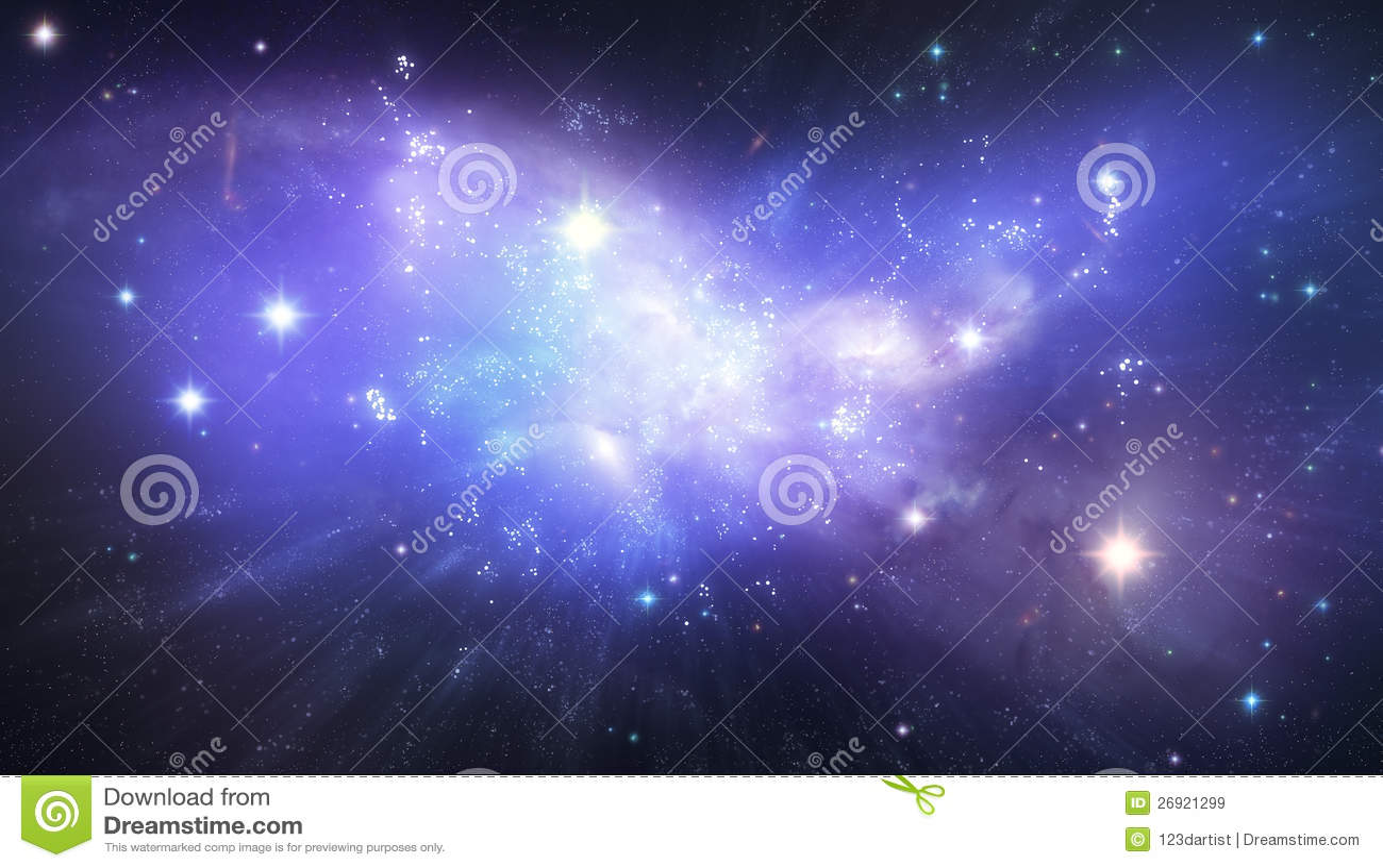 beautiful galaxy background stock illustration