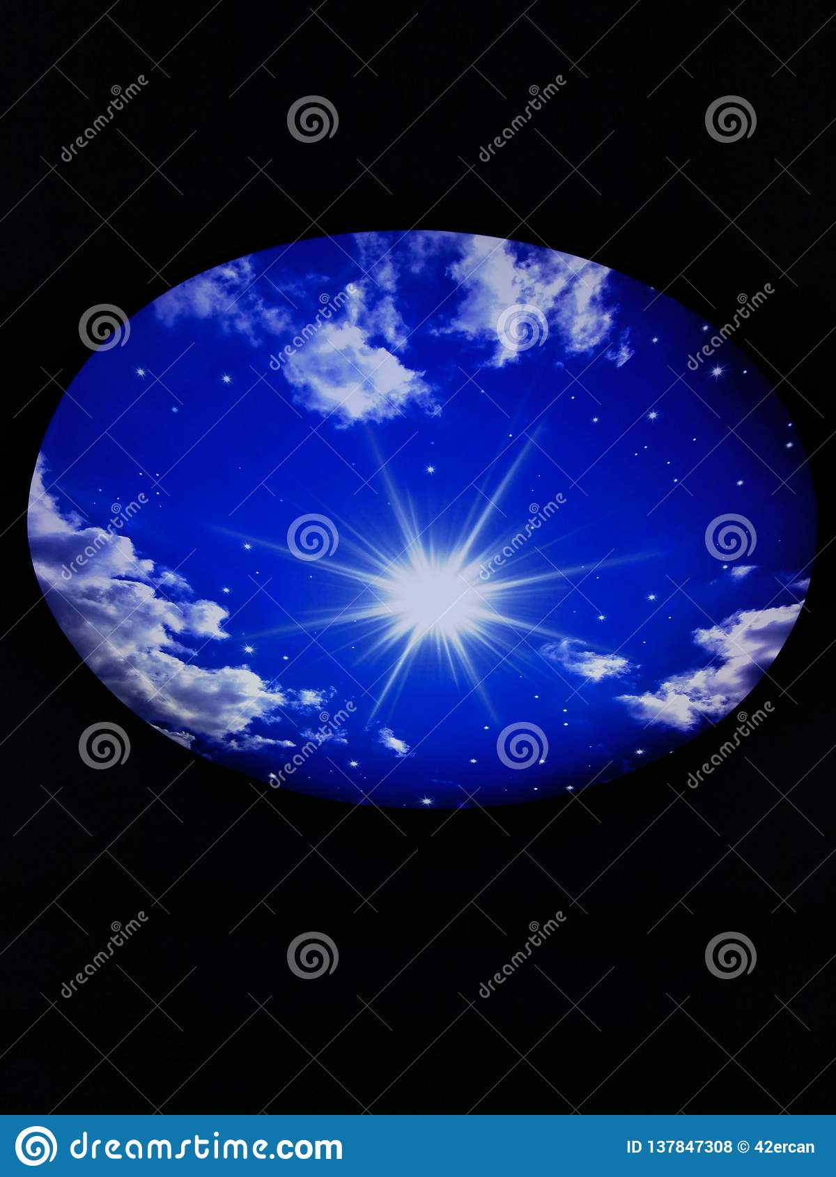 Galaxy roof lamp stock photo  Image of hill, jungel - 137847308
