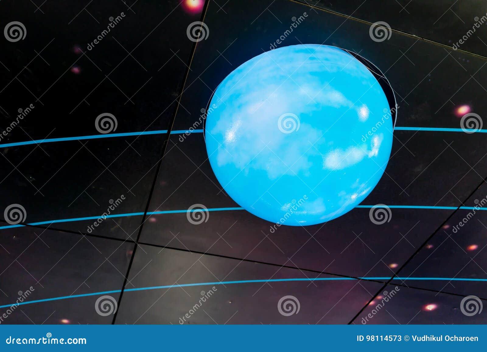 Beautiful Galaxy Design Ceiling Lamp Editorial Stock Photo