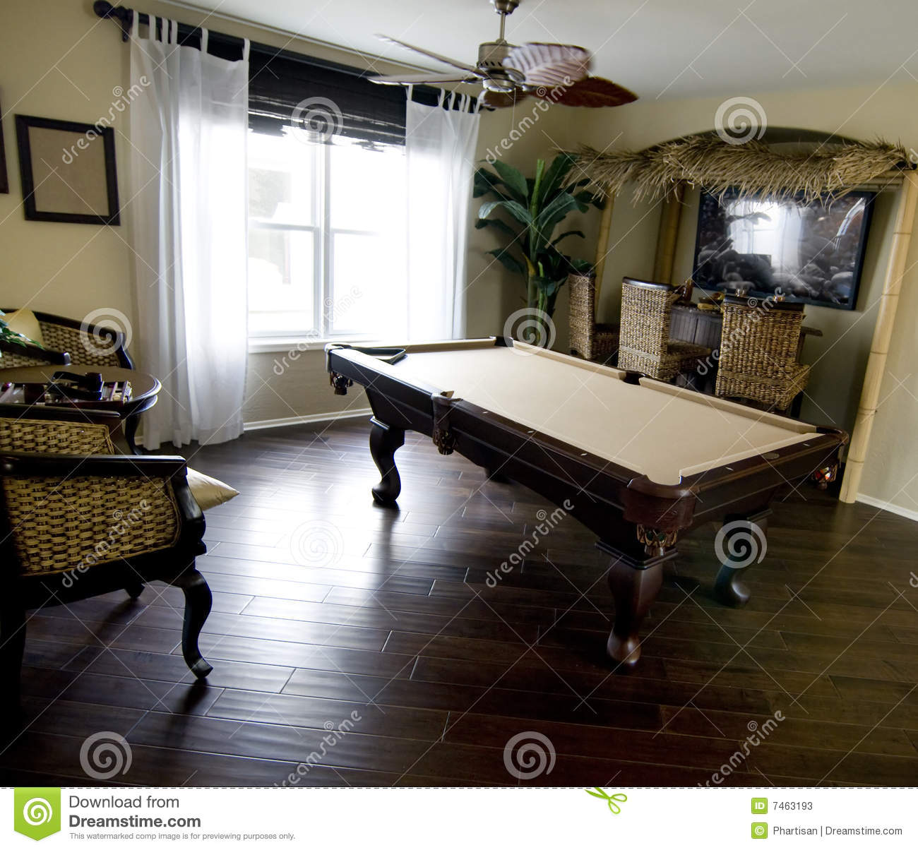 Beautiful Game Room Area In New Home Stock Photos Image