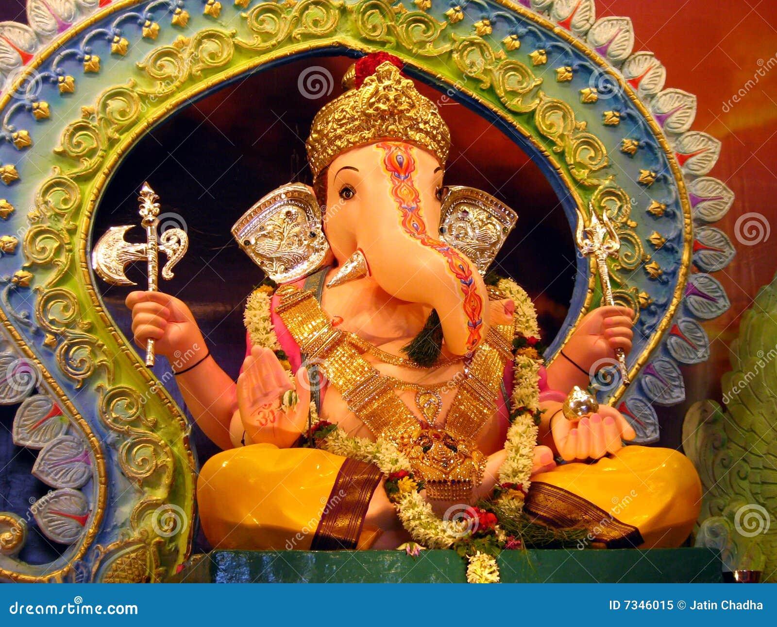 Beautiful ganesha idol royalty free stock photo image for Background decoration for ganesh festival