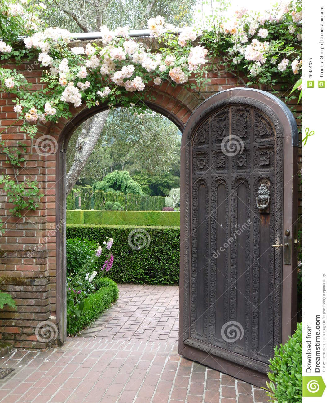 Beautiful Garden Door Royalty Free Stock Photo Image 26454375