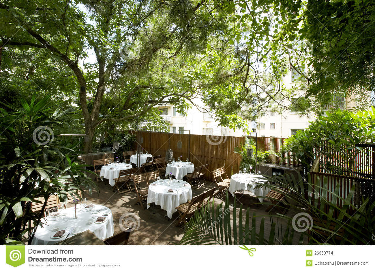 The Beautiful Garden Restaurant Stock Images Image 26350774