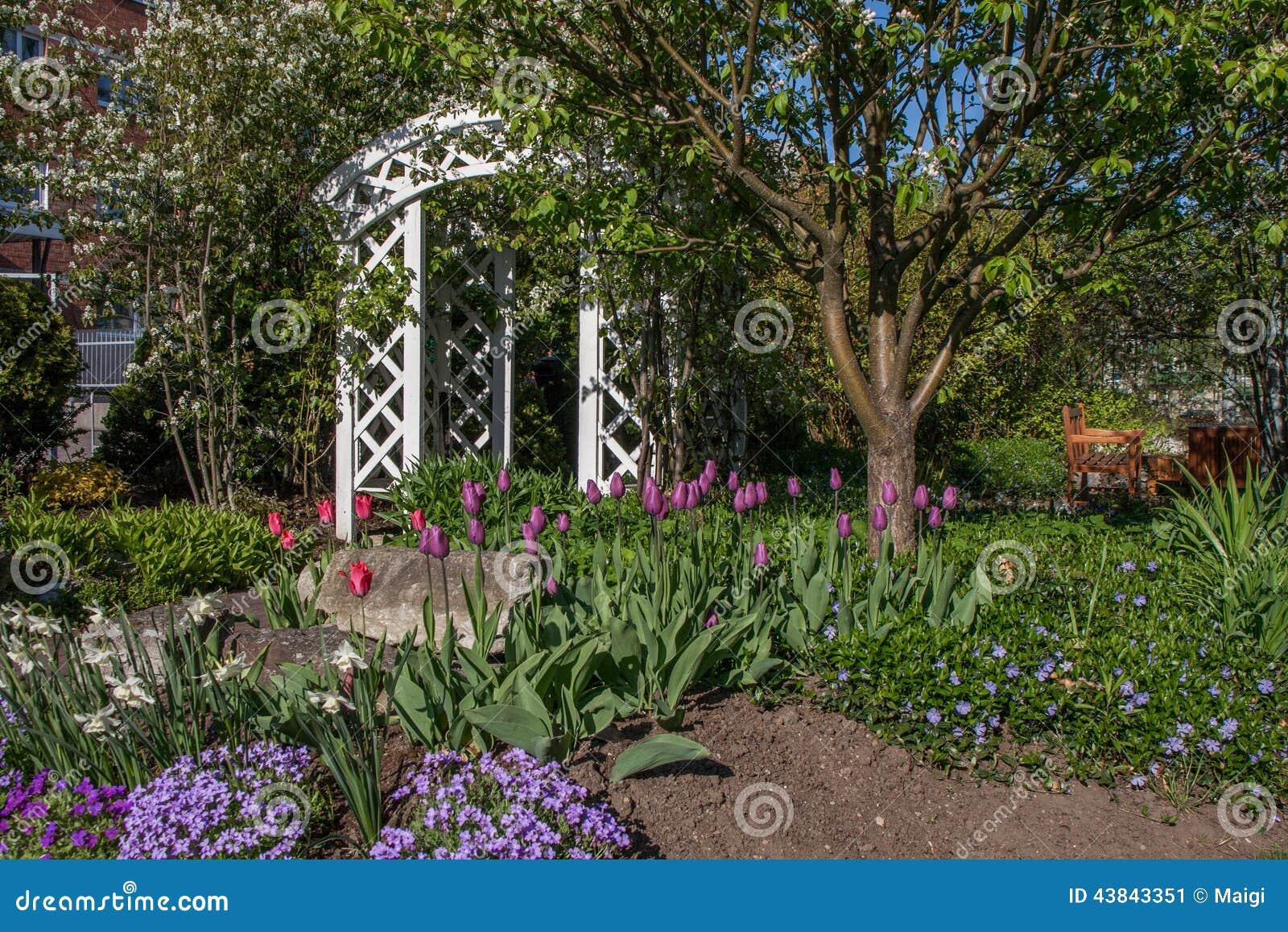 Download Beautiful Garden stock image. Image of blooming, garden - 43843351