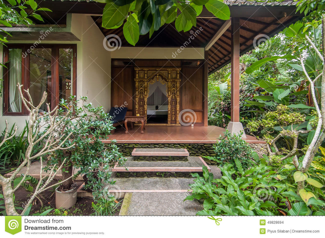 Beautiful Garden Villa Hotel Stock Photo - Image of resort, plant ...