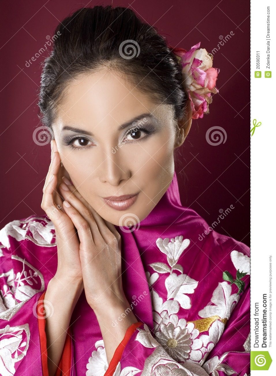 beautiful geisha stock image image of hair face beauty