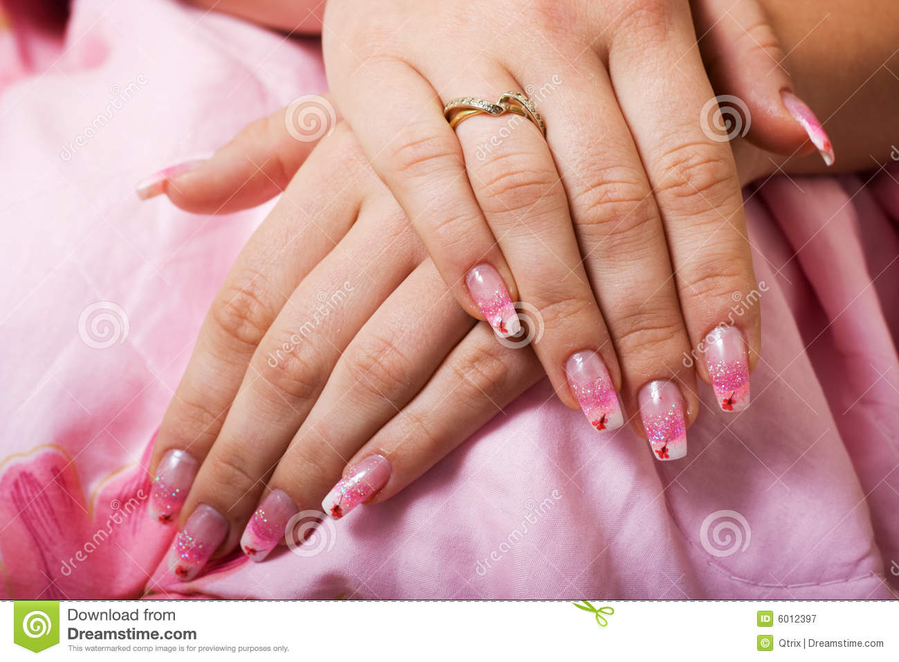 Beautiful gel nails. stock image. Image of elegance, shiny - 6012397
