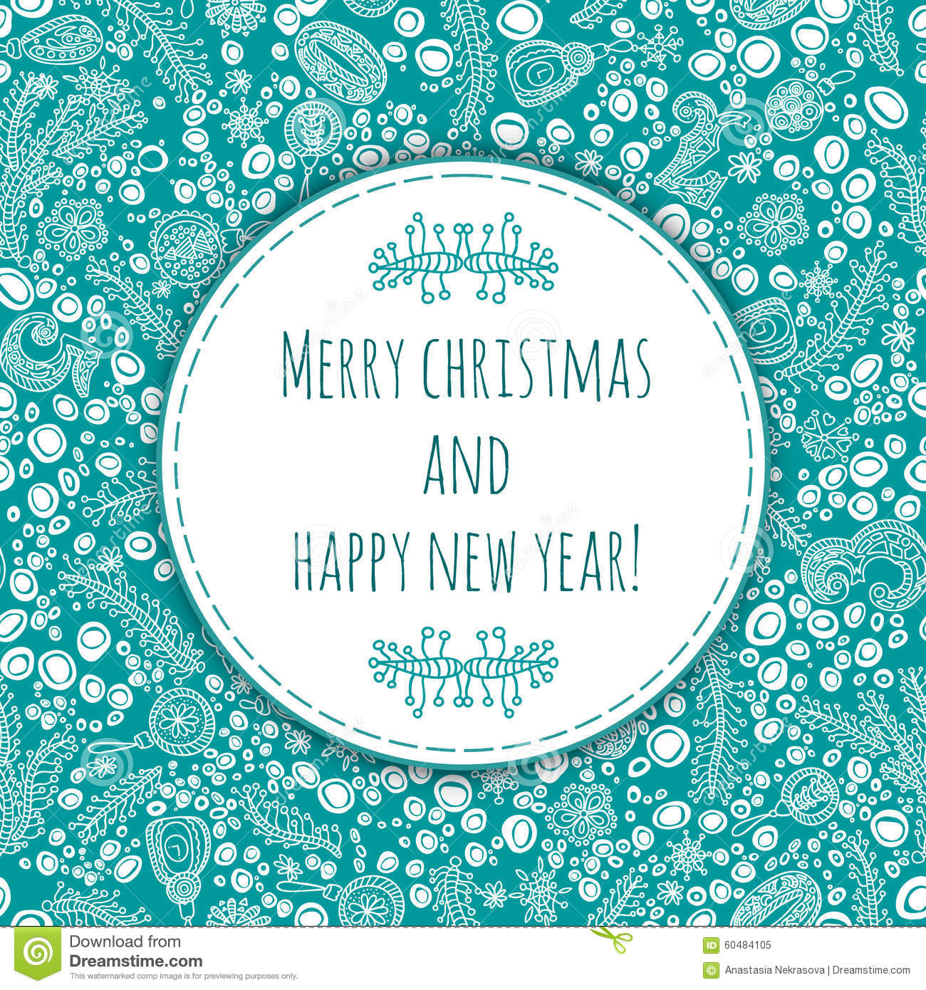beautiful and gentle greeting happy new year and merry christmas christmas card new year