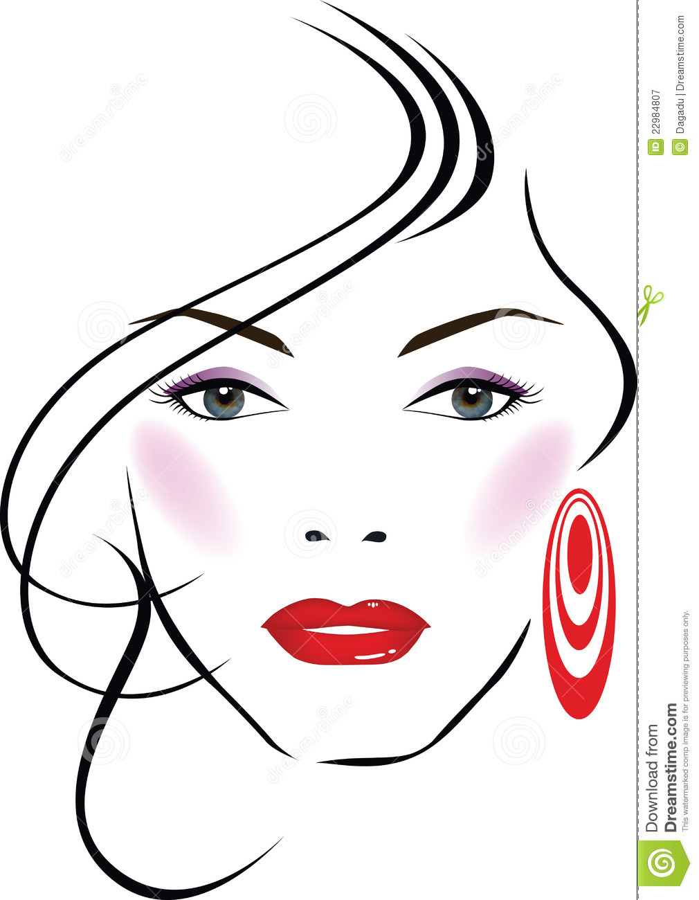 Beautiful Face Line Drawing : Beauty face clipart pixshark images galleries