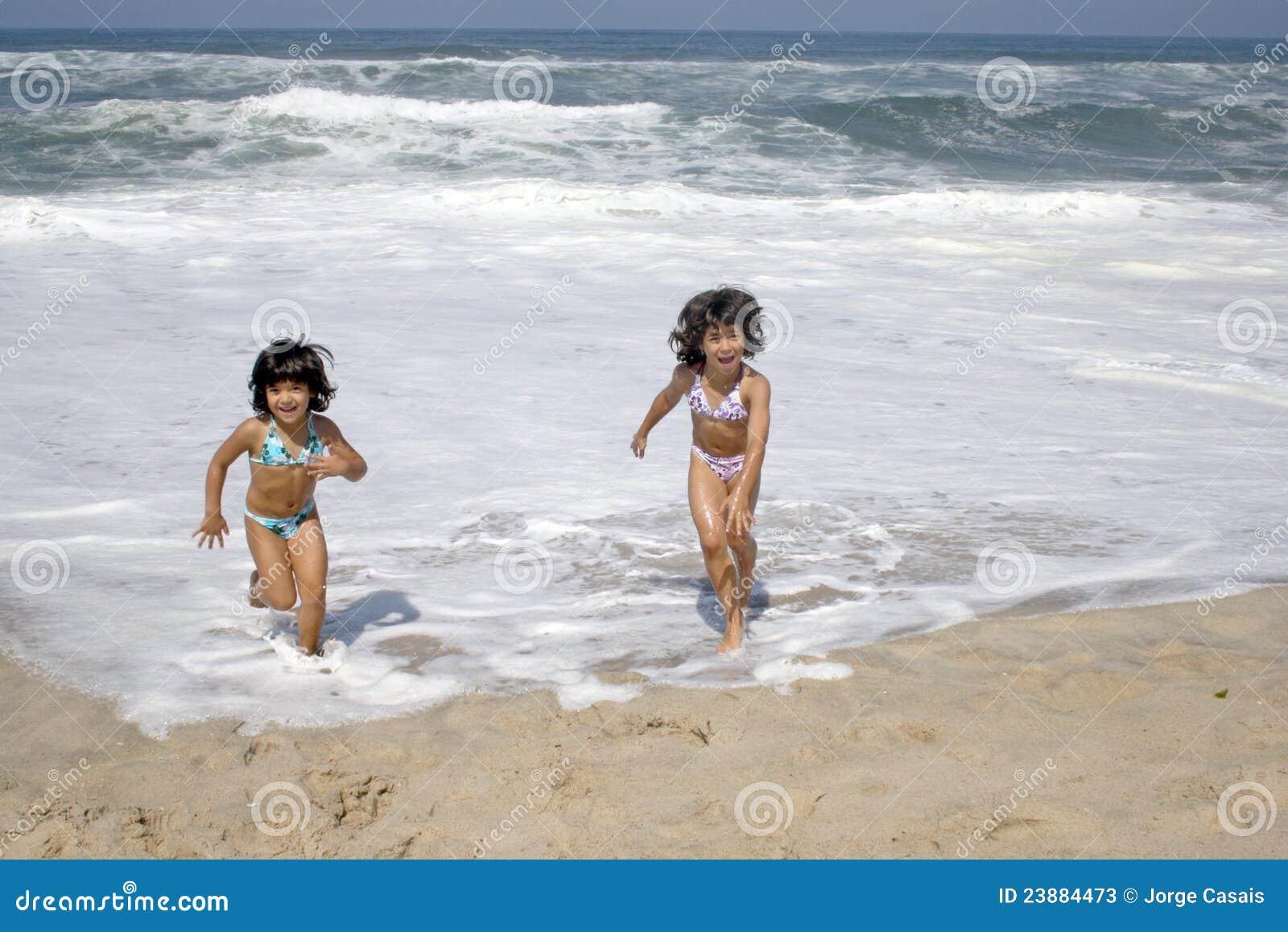 Beautiful girl in bikini in the beach
