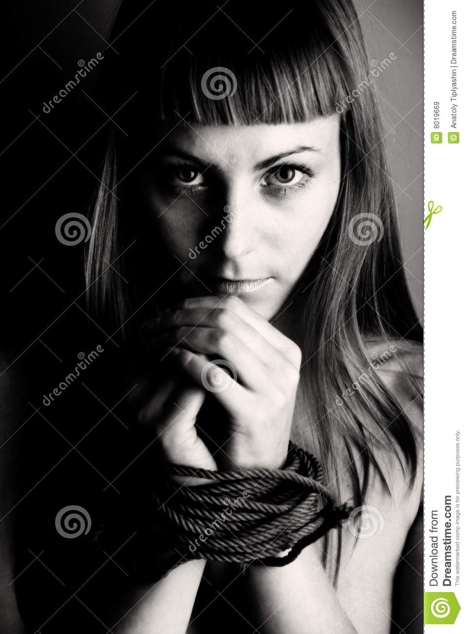 Beautiful girl bind hand royalty free stock images image for Beautiful binding