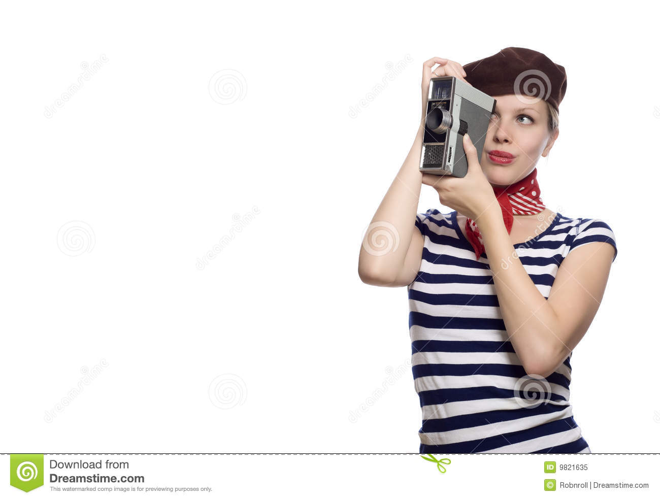 8a7d4cff71767 Beautiful Girl In Classic 60s French Look Stock Image - Image of ...