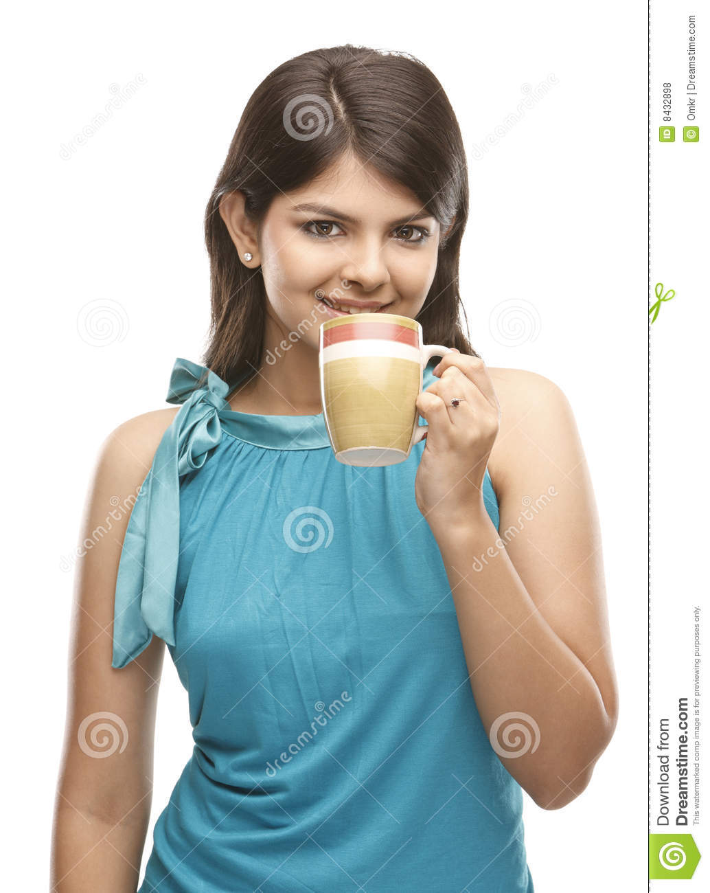 Beautiful girl with the coffee cup