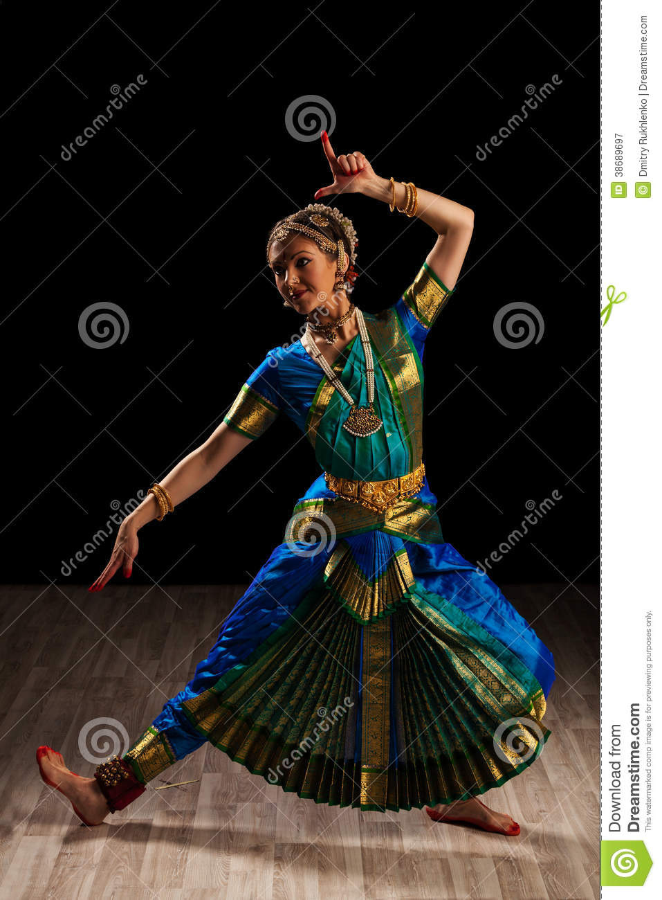 Beautiful Girl Dancer Of Indian Classical Dance Stock Image Image Of Classic Adult 38689697